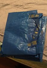 3 IKEA New Large Shopping Bags NEW REUSABLE STORAGE LAUNDRY TOTE GROCERYFRAKTA