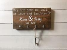 Personalised his hers Key Holder/Gift for couple/Wedding Gift/New Home Gift/keys