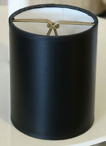 """Clip-on Black Parchment Shades 3 1/2 """" x 3 1/2"""" x 4 1/2"""" -Price for set of 6"""