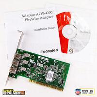 Adaptec AFW-4300C 3-Port FireWire IEEE 1394 Controller PCI Card DESKTOP PC NEW