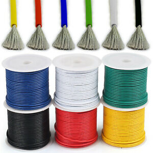 Flexible Silicone Wire Cable 8/10/12/14/16/18/20/22/24/26/28/30 AWG Colours