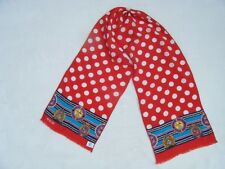 Bill Blass Red White Blue Nautical Polka Dot Scarve