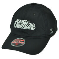 NCAA Zephyr Ole Miss Mississippi State Rebels Black Snapback Relaxed Hat Cap