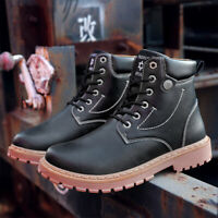 Men's Casual Warm Ankle Boots Fashion Military Boots Winter Autumn Shoes