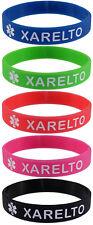 5 Pack - XARELTO Silicone Bracelet Wristbands
