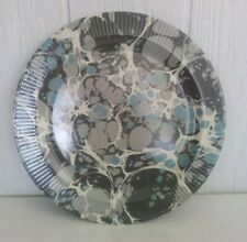 """Melamine Threshold Round Serving Platter Blue 14.5"""" Appetizer Party Tray NEW"""