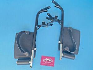 Pair of Lomax Remploy / Invacare Ben 9+ , Uni 8 Uni 9 Wheelchair Footrests