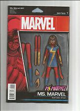 MS MARVEL (V4) #1 Limited Action Figure variant by John Tyler Christopher! NM