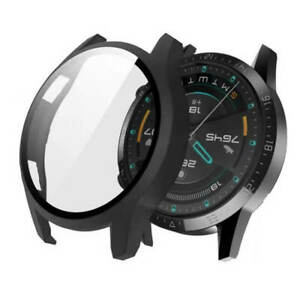 SDTEK Case for Huawei Watch GT 2 (46mm / GT2) Screen Protector Cover (Black)