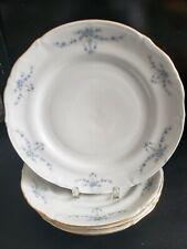 """CHODZIEZ  CHZ12 BLUE FLORAL SWAG GARLAND 4 DINNER PLATE 10 1/4"""" DIAMETER."""