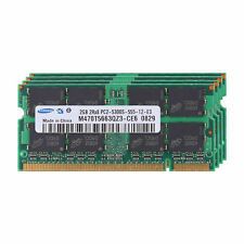 8GB Kit (4x 2GB) For Samsung Memory Ram PC Laptop DDR2 PC2 5300 667Mhz SO-DIMM
