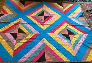 "Contemporary Hand Sewn Quilt, ""Diamond,"""