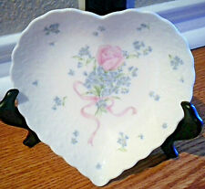 Mikasa Always and Forever Porcelain Heart Shaped Trinket Dish Candy Bowl Rose
