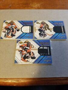 2000-01 UD Black Diamond Game Gear John Vanbiesbrouck lot Glove Blocker Pad Set