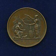 """FRANCE   1830   """"WAR MEMORIAL""""  BRONZE MEDAL, APPROX. 50MM, """"A LA MEMOIRE DES FR"""
