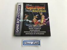 Notice - Magical Quest Starring Mickey - Nintendo Game Boy Advance GBA - PAL