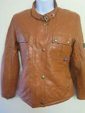 Vintage Belstaff Shaped Leather Jacket UK 10 Euro 38 - Brown