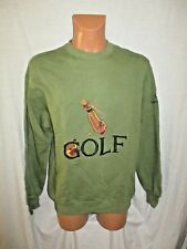 VTG Men's SERGIO TACCHINI  'GOLF' crew neck green embro sweatshirt top sz M