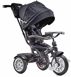 Bentley Trike 6-in-1 Reversible Seat Convertible Tricycle Stroller Onyx Black
