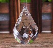 10Pcs Crystal Chandelier Pendant 50mm Clear Color Glass Suncatcher Wedding Decor