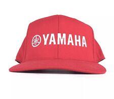 YAMAHA Embroidered Red Baseball Cap Hat SnapBack Adult Size Acrylic