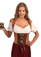 Brown Corset Wench Medieval Pirate Gypsy Women's Vamp Costume Accessory Lace Up