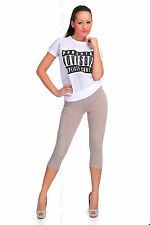 Womens Cropped 3/4 Capri Length Leggings Summer 100% Genuine Cotton
