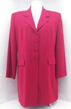 Fashion Kay Red Long Suit Coat. Size 12.
