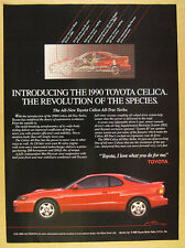 1990 Toyota Celica All-Trac Turbo red car photo vintage print Ad