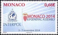 Monaco 2014 Interpol Conference/Police/Law/Order/Policing/Emblem 1v (mc1064)
