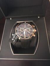 EDOX 10227 357RNCA NBR Men's Rosetone Black Quartz Watch RARE SOLD OUT