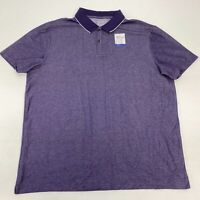 NWT Apt. 9 HEIQ Smart Temp Polo Shirt Men's 2XL Short Sleeve Purple Cotton Blend