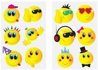 12 Smiley Tattoos Transfers Birthday Party Loot Bag Toy Fillers For Kids