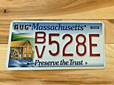 Massachusetts Preserve the Trust Water Mill License Plate