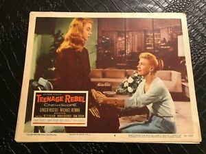 1956 MOVIE LOBBY CARD #4-2358 TEENAGE REBEL - GINGER ROGERS