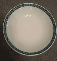 "Set Of 4 Royal Doulton Moonstone Cereal Bowls Blue White 6.75"""