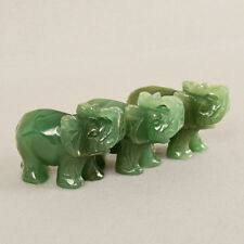 5cm Chinese Jade Carve Elephant Trunk Statue Lucky Wealth Figurine Home Ornament