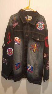 New York Black Yankees Detroit Stars Headgear Mens Jean Jacket Blue Pocket XXXXL