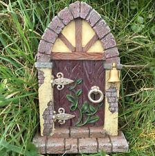 Fée porte décoration de jardin avec arqué Magique Pierre ELF Pixie 39156