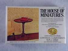 House of Miniatures Doll Furniture Xacto 1:12 Queen Anne Tilt-Top Table #40008