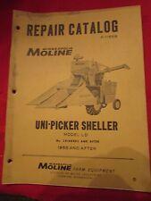 Uni-Picker LD Model Combine Minneapolis Moline Repair Manual 1955 and Later