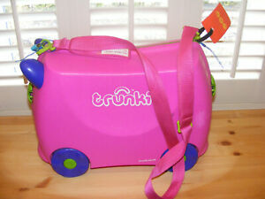 Trunki Ride on Holiday Travel Suitcase Staycation or Abroad Kids Travel Seat