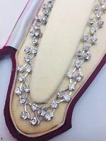 Vintage Early Eisenberg Signed Rhinestone Choker Necklace