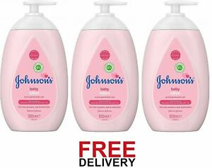 3 PACKS x 500ml JOHNSON'S Baby Lotion Gentle Mild for Delicate Skin Everyday Use