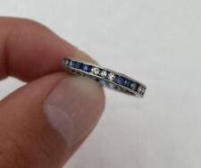 Platinum Art Deco Period Sapphire & Diamond Full Eternity Ring 950.