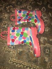 Gymboree Rain Boots BURST OF SPRING Watercolors Sz 12 Girls