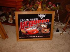 DISNEY CARS LARGE  Framed Tin Lightning McQueen & MATER WALL HANGING