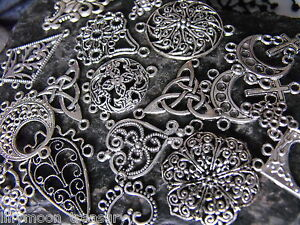 Ethnic earrings chandelier connector  tibetan silver various 26 style GOTH WICCA