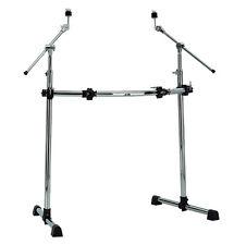 Drum Rack DR-15 , professionell,mit Halteklammern, gebogener Stange und T-Füßen