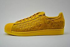 Mens Adidas Original Superstar Casual Shoes Sneakers Size 12 Yellow Gold AQ8182